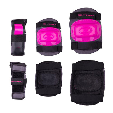 Cycling Elbows and Knees Pads 6pcs Set - Pink - Gymzey.com