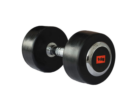 Deluxe Rubber Dumbbell - 14kg (single) - Gymzey.com