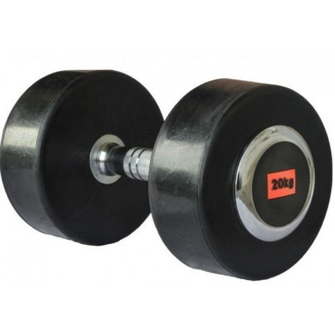 Deluxe Rubber Dumbbell - 20kg (single) - Gymzey.com
