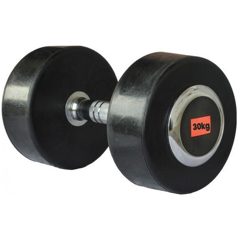 Deluxe Rubber Dumbbell - 30kg (single) - Gymzey.com