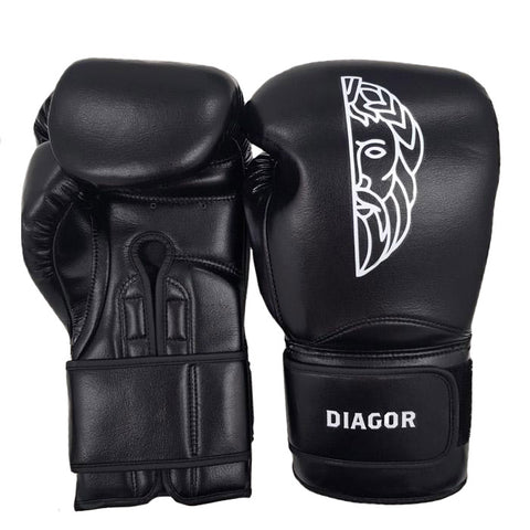 Diagor Olympic Elite Boxing Gloves 14oz Black - Gymzey.com