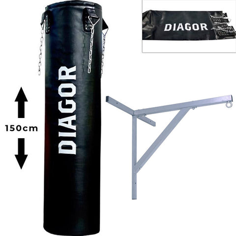 Diagor Olympic Punch Bag 150cm, unfilled + Wall Bracket - Gymzey.com