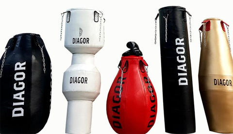 Diagor Olympic Collection - 6 Premium Punch Bags! Save £205 - Gymzey.com