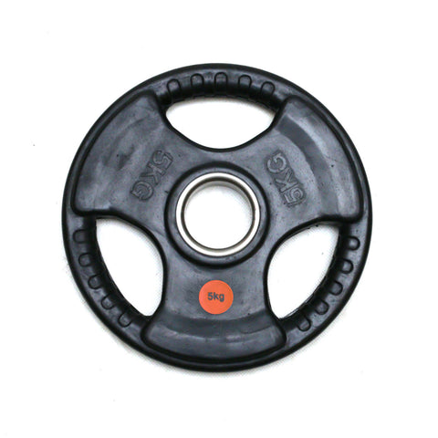 Diagor Tri-Grip Rubber Coated Cast Iron Olympic Weight Plate, 5kg - Gymzey.com
