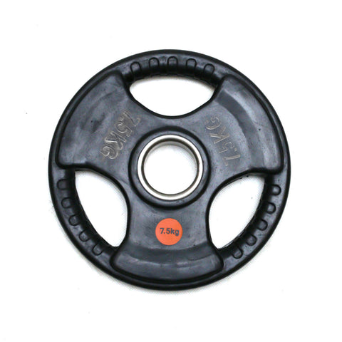 Diagor Tri-Grip Rubber Coated Cast Iron Weight Olympic Plate, 7.5kg - Gymzey.com