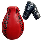 Diagor Olympic Uppercut Bag 49kg + 1 pair of Black/White Boxing Gloves