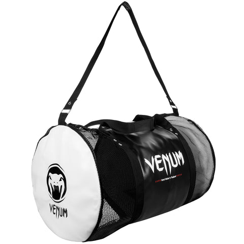 Venum Thai Camp Sports Bag - Black/White - gymzey-com