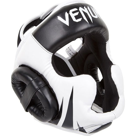 Venum Challenger 2.0 Head Guard - Black/White - gymzey-com