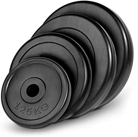 Rubber-Coated Standard 30mm Weight Plates - 2 x 2.5kg