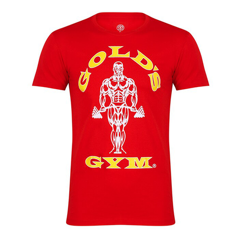 Golds Gym Muscle Joe Gym T-Shirt - Red - Gymzey.com