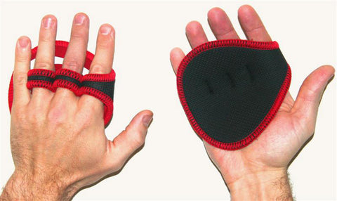 Gripad Hand Grips Weight Lifting Gloves - red - Gymzey.com