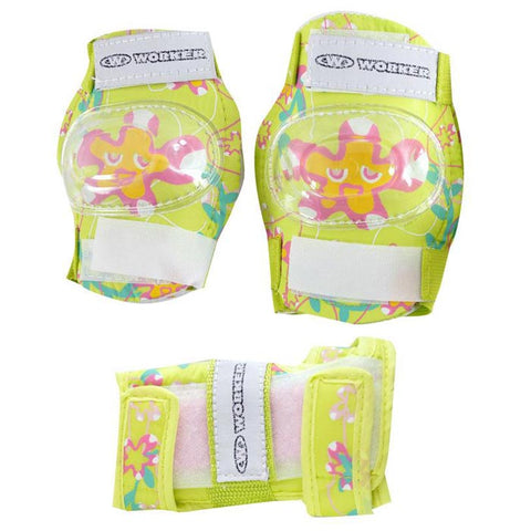 Kids Cycling Elbows and Knees Pads Set - Green - Gymzey.com