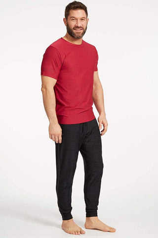 Ohmme Equinox Gym Tee - Red - Gymzey.com