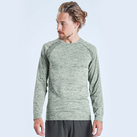Ohmme Orion Long Sleeve Gym Top - Green - Gymzey.com