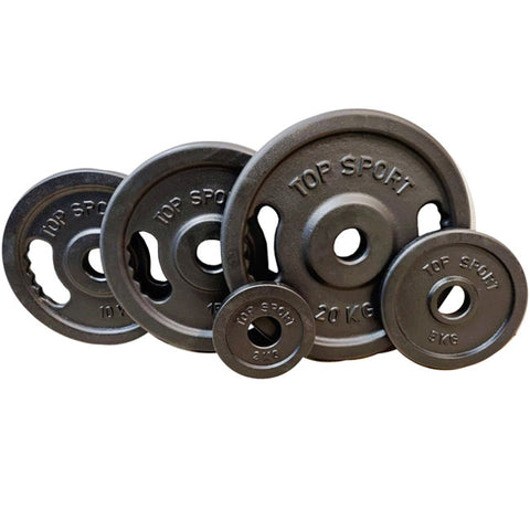 "5 Pairs Set of Premium Cast Iron 2"" 50mm Olympic Weight Plates from 2kg to 20kg Save £63"