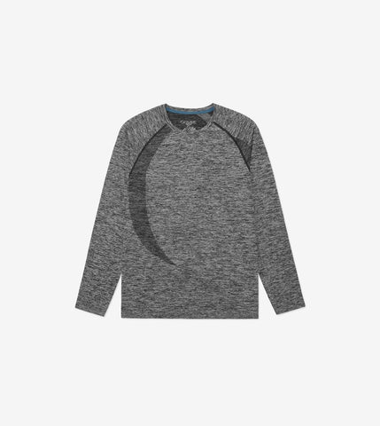Ohmme Orion Long Sleeve Top - Black - Gymzey.com