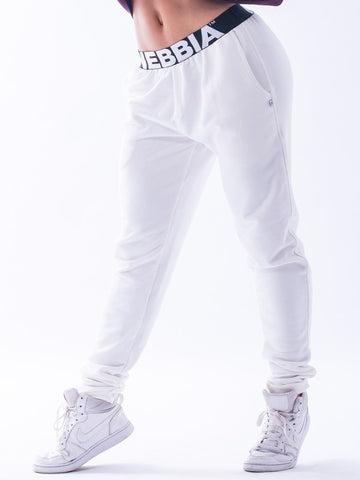 Nebbia Boyfriend Sweatpants N655 - Cream - Gymzey.com