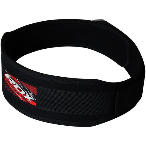 RDX 4R Neoprene Single Power Lifting Belt Fitness - gymzey-com