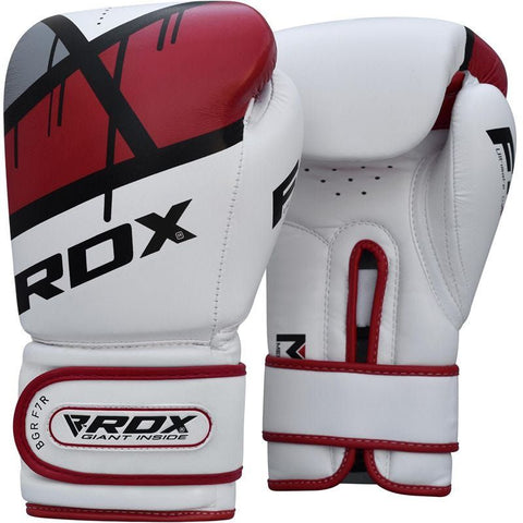 RDX F7 Ego Boxing Gloves 12oz - Red - Gymzey.com