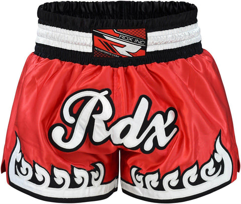 RDX Muay Thai Fighting Shorts Red - Gymzey.com