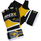 RDX Neoprene Power Fighter Grappling Gloves X5 Yellow - Gymzey.com
