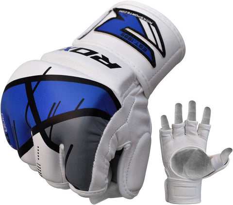 RDX T7 Ego MMA Grappling Gloves - Blue - Gymzey.com