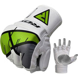 RDX T7 Ego MMA Grappling Gloves - Green - Gymzey.com