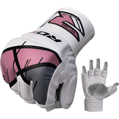 RDX T7 Ego MMA Grappling Gloves - Pink - gymzey-com