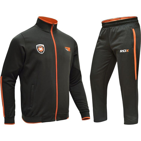 RDX Men's Terry Zip Up Tracksuit - Gymzey.com