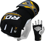 RDX X3 Neoprene Gel Grappling Gloves - Yellow - Gymzey.com