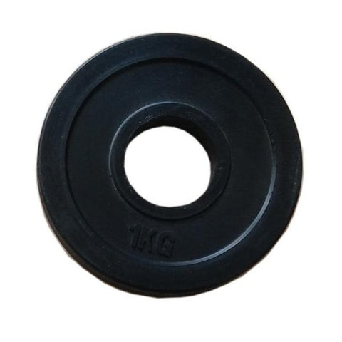 Colour Rubber Coated Olympic Weight Plate - 1kg - Gymzey.com