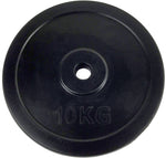 Rubber-Coated Standard 30mm Weight Plate, 10kg (single)
