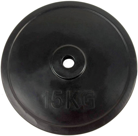 Rubber-Coated Standard 30mm Weight Plate, 15kg (single)