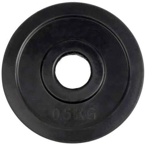 Rubber-Coated Standard 30mm Weight Plates - 2 x 0.5kg
