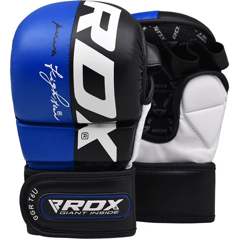 RDX T6 MMA Grappling Gloves - Blue - Gymzey.com