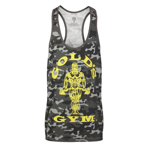 Golds Gym Muscle Joe Stringer Vest - Camo/Black - Gymzey.com