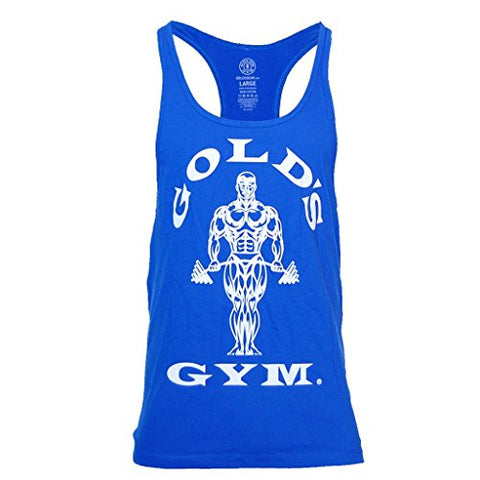 Golds Gym Muscle Joe Stringer Vest - Royal Blue - Gymzey.com