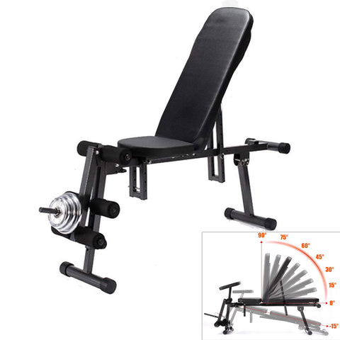 Adjustable Exercise Weight Bench with Free Resistance Bands