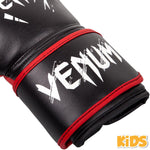 Venum Contender Kids Boxing Gloves - Black/Red - Gymzey.com
