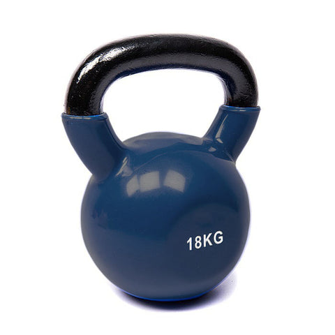 Vinyl Coated Cast Iron Kettlebell - 18kg (single)