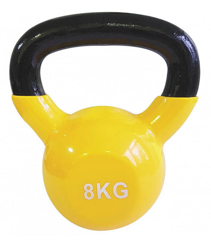 Vinyl Coated Cast Iron Kettlebell - 8kg (single)