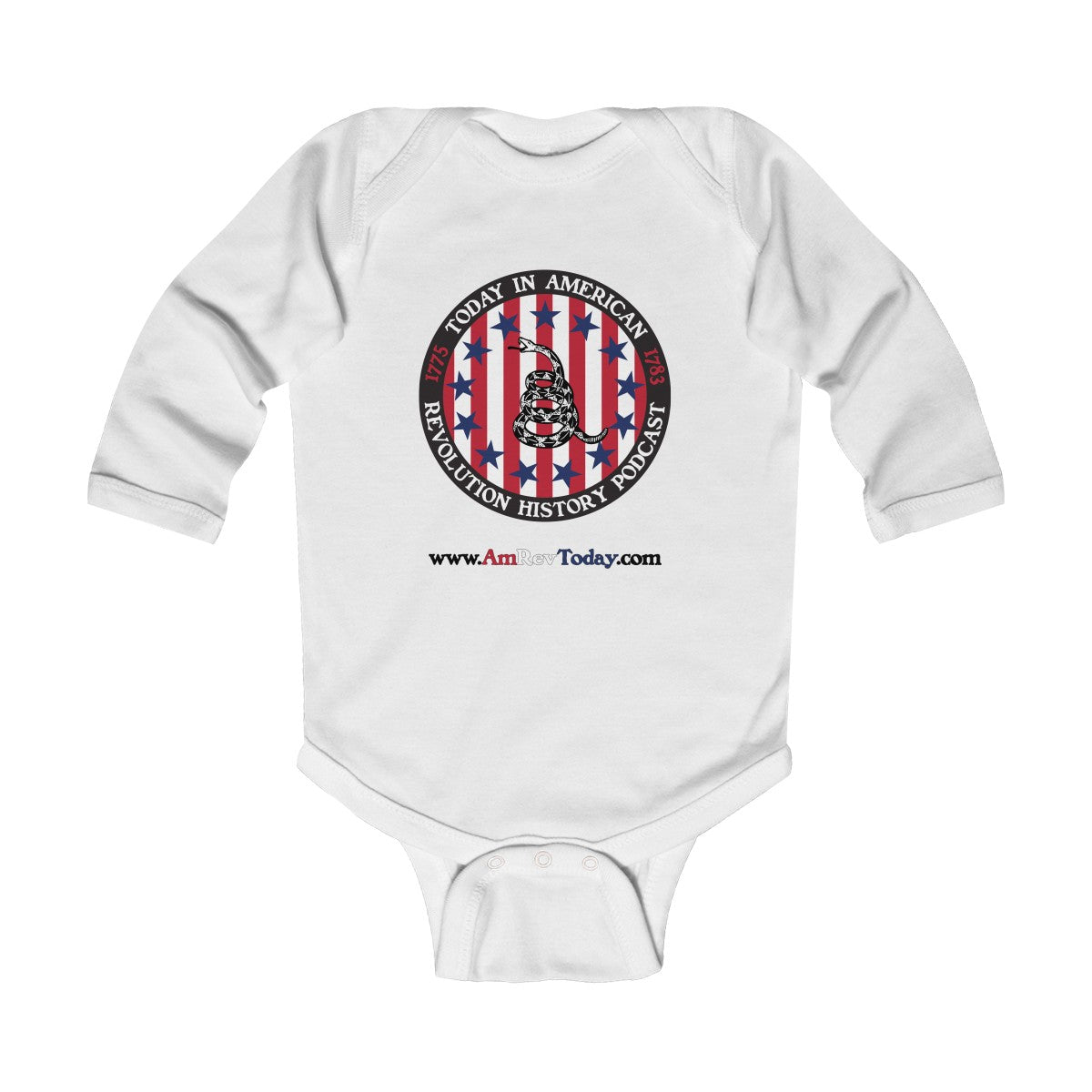 Today in American Revolution History Podcast Infant Long Sleeve Bodysuit