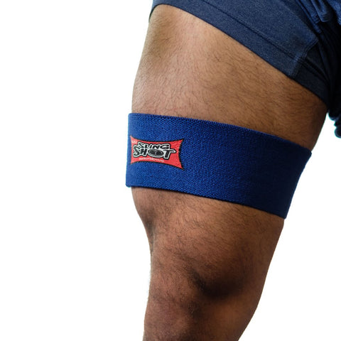 Hammy band in blue Alleviates hamstring pain or discomfort during training