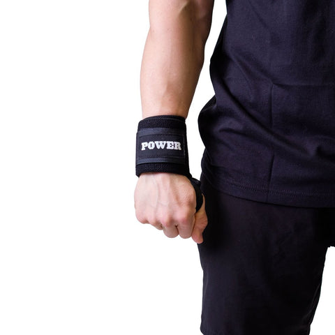 Mark Bell Power Wrist wraps in black for Accessory Exercise Support