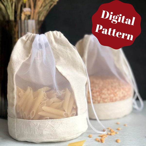 Reusable Produce Bags, 2 sizes--Digital Pattern