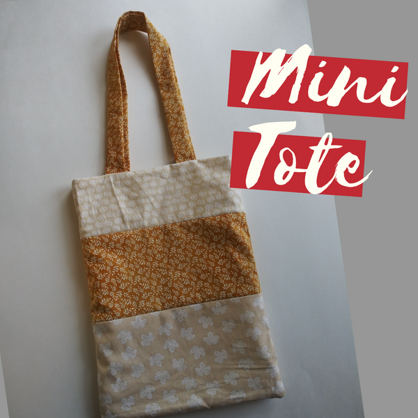 Mini Tote Downloadable Sewing Pattern