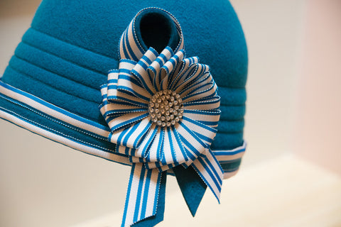 """Champion"" Turqioise Cloche"