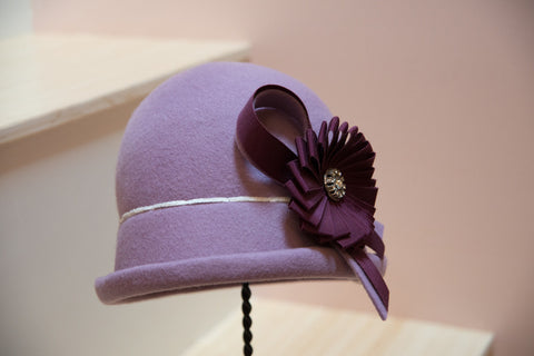 """Champion"" Lavender Cloche Hat"