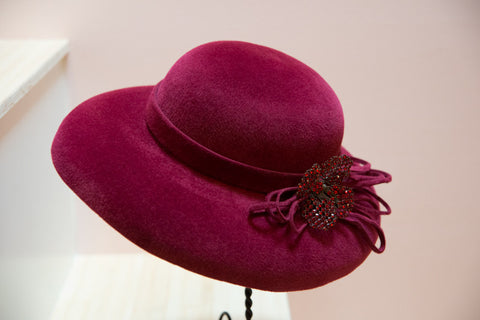 Kerry, Wide Brimmed Velour Hat