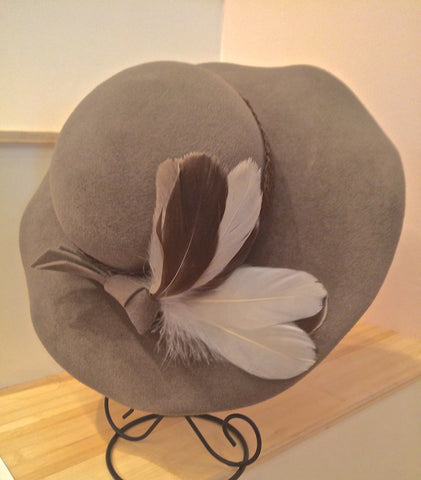 Lizzie, Wide Brimmed Velour Hat